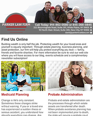 Subscribe to our Estate Planning Newsletter today!